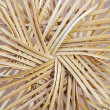 Bottom of straw basket — Stock Photo