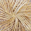 Stock Photo: Bottom of straw basket