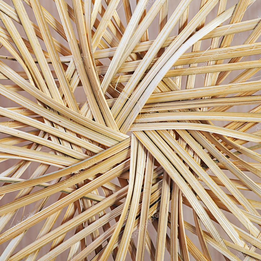 Bottom of straw basket, weave. — Stock Photo #13180723