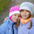 Royalty-Free Stock Photo: Two sisters-in close-up pre-schoolers