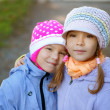 Two sisters-in close-up pre-schoolers — Stock Photo
