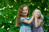 Sisters playing — Stock Photo
