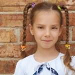 Beautiful little girl close-up — Stock Photo