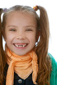 Toothless little girl — Stock Photo