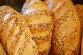 Pagnotte di pane bianco fresco — Foto Stock