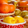 Stock Photo: Lemons, oranges, pears and apples