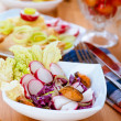 Royalty-Free Stock Photo: Salad with radishes and mussels