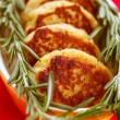 Meat cutlets with rosemary - Stock fotografie