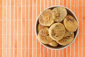 Placa com figos secos — Fotografia Stock