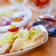 Fish fillet with onions — Stock Photo #18306591