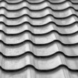 Wavy metallic gray tiles - Stock Photo