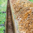Earthen trench - Stock Photo