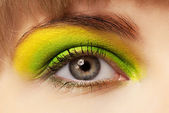 Young woman with eye shadow and mascara — Stock Photo