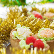 Beautiful cakes in ornaments — Stock Photo #24118709