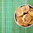 Plate with dried figs — Stock Photo