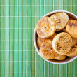Plate with dried figs — Stockfoto