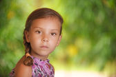 Portrait of young cute girl — Stock Photo