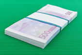 Bundle of 500 Euro banknotes — Stock Photo