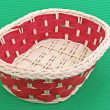Stock Photo: Wicker basket with red elements