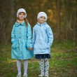 Two little girls sister — Stock Photo