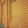 Wall of orange brick — Stock Photo