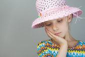 Little girl reflects — Stock Photo