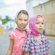 Two young sisters — Stock Photo
