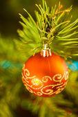 Röd jul leksak红色圣诞玩具 — Stockfoto