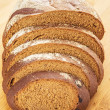Piece of rye bread — Stock Photo