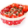 Basket with ripe tomatoes — Stock Photo #31075543