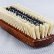 Wooden shoe brush — Stock Photo