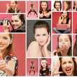Stock Photo: Collage with photos of girls