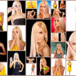 collage avec des photos de femme blonde — Photo #31728279