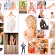 Collage beautiful young woman — Stock Photo #31731029