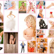 Stock Photo: Collage beautiful young woman