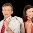 Senior businessman and girl — Stock Photo #3796355