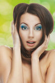 Surprised beautiful young woman — Stock Photo