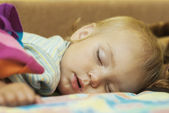 Kid sleeps — Stock Photo