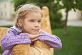 Little girl pondered — Stock Photo