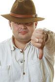 Homem de chapéu — Fotografia Stock