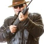 Man with gun — Stock Photo #45700159