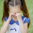 Little girl with pigtails crying — Stock Photo #45760787