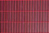 竹赤いテーブル クロス — ストック写真