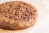 Flat round rye flatbread — Stock Photo