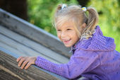 Portrait of cheerful young girl — Stock Photo