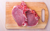 Juicy piece fresh meat (pork, beef, lamb) — Stock Photo