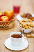 Breakfast on table — Stock Photo