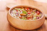 Thai Tom Yam soup with seafood — Foto Stock