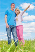 Young beautiful woman with man — Stock Photo