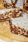 Nougat of confectioneries made — Stock Photo